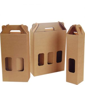 scatola per bottiglie fustellate